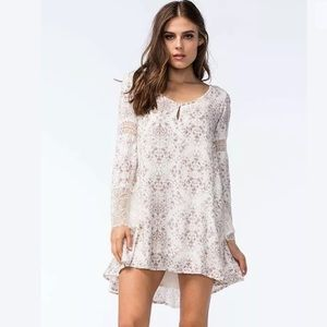O'Neill Panama Lace Bell Sleeve Boho Dress NWT
